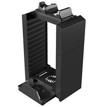 Vertical Stand Cooling Fan Dual Controller Charger for PS4 PS3 PS Move