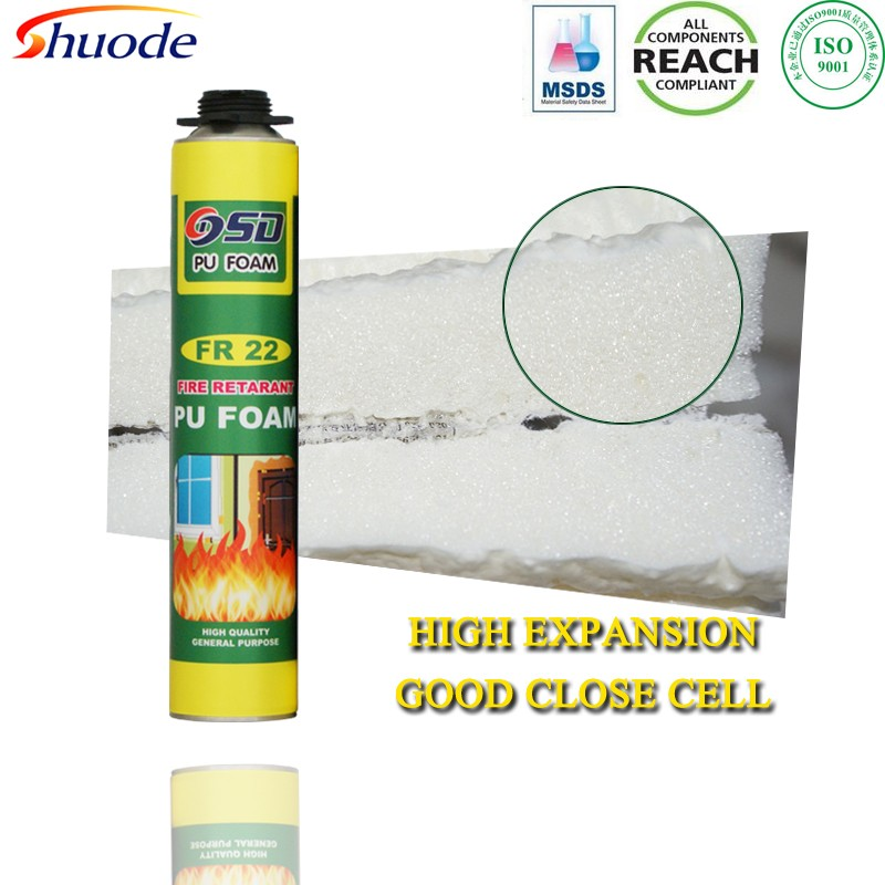 750ml 500ml 300ml window door construction expanding MSDS REACH insulation waterproof spray polyurethane foam