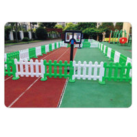 Hot Sale China Plastic Cheap Play Game Children Used Luxurious Fence Playground