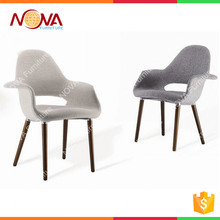 home furniture living room used comfortable europe style fabric seat wooden legs leisure chairs / sofa chairs on hot sale