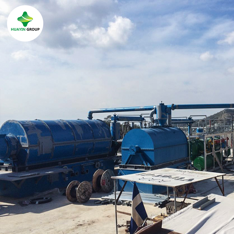 5ton/10ton Waste Tire Plastic Pyrolysis Recycling Unit Line To Diesel Fuel oil Sold to America