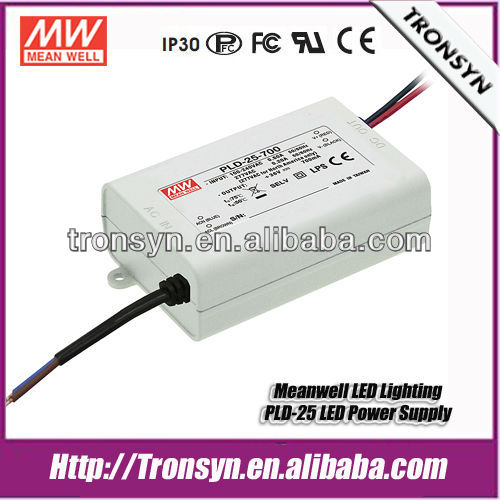 Meanwell Switching led driver 700ma PLD-16-700 Single Output Constant Current LED Switching Power Supply