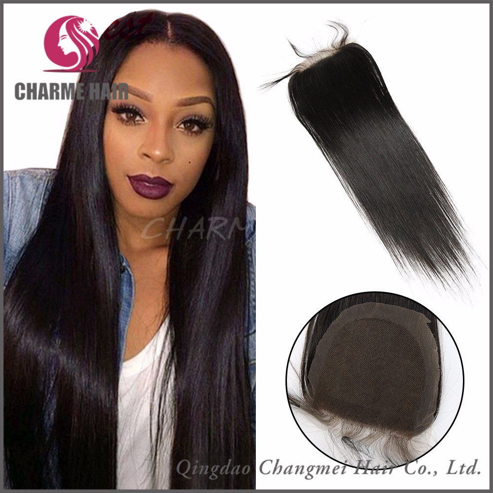 Factory Direct Price Silk Straight Cheap Human Hair Lace Closure