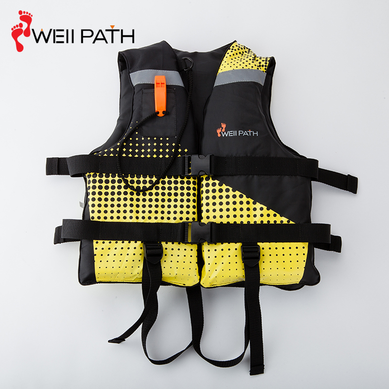 Outdoor type 3 life jacket fishing pfd with safe whistle