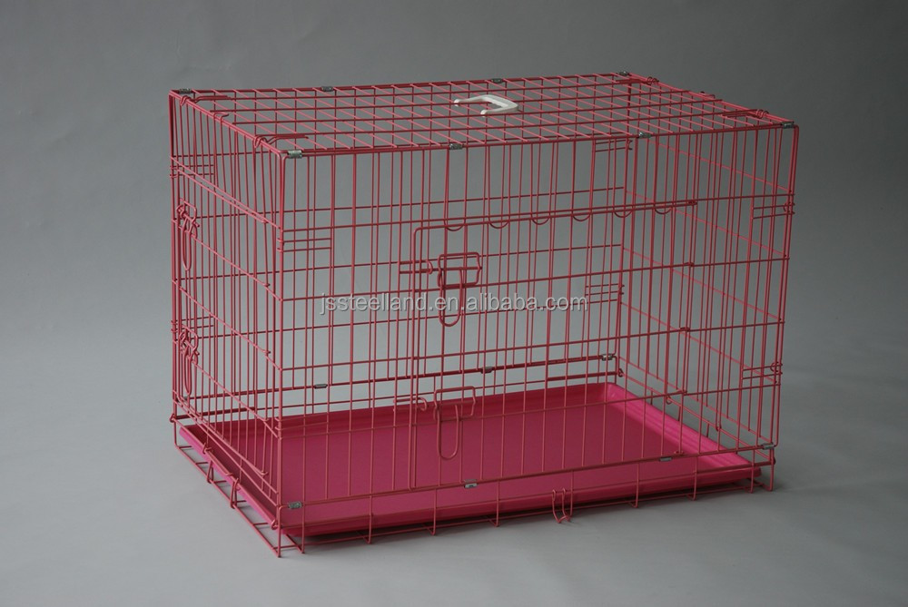 new design suitcase foldable wire welded dog cages fo USA market