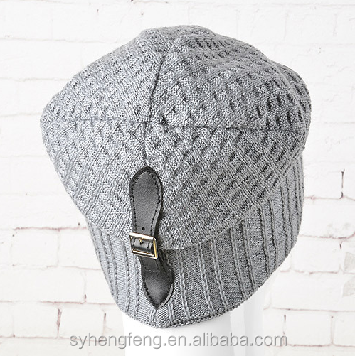 Hot sale men 's hats autumn and winter fashion outdoor knitting hats Korean version of the trend of hip hop wool knitted hat/cap