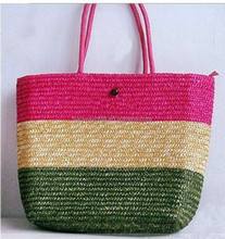 Hot selling popular paper straw bag beach bags