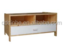 hot sale natural wood pine TV stand popular style new products beauty stable TV stand