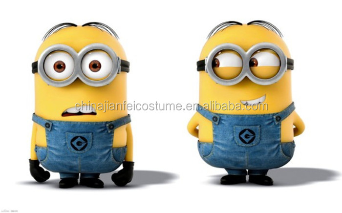 2016 Hot Customized Cartoon Toys Adult Despicable Me Minion Mascot Costume