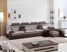 latest design hall sofa Furniture/ modern style Combination Cloth Corner sofa