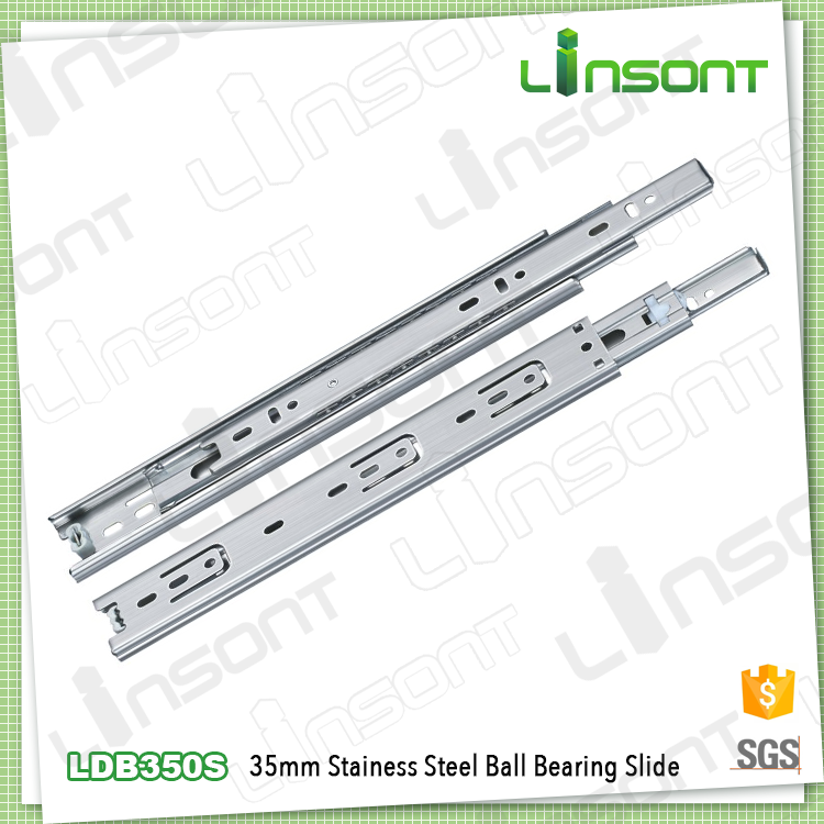 Linsont 35mm stainless steel roller bearing under table 24 inch drawer slides