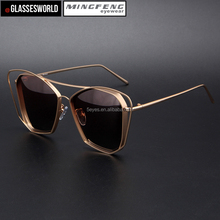 Wholesales fashion metal UV400 sunglasses with custom you own brand logo polarized sun glasses