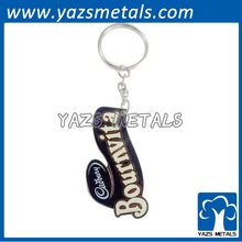 customized logo metal iron keyrings metal keychains lacquered colors and gold finish