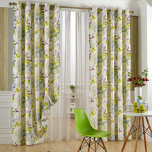 Wholesale photo print Classical Last Foreve Yarn Dyed Fancy Fabric Window Curtains
