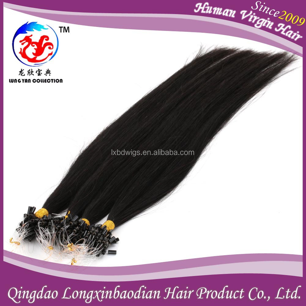 Factory Wholesale Price New Arrival Healthy Beautiful Real Virgin Human Hair Cuticle Remy Black Star Micro Braid Weft Hair