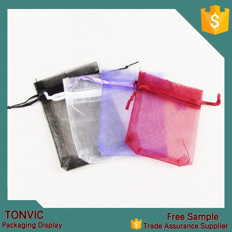 7*9 small cheap organza drawstring jewelry gift wrapping bag pouch 100pieces one bag
