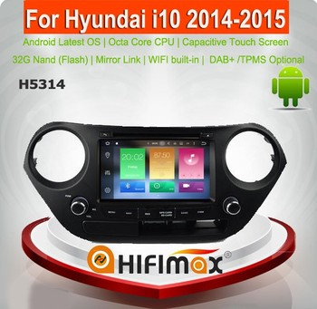 Hifimax Android 6.0 car radio for Hyundai I10 2014 car multimedia player for hyundai i10 car audio player