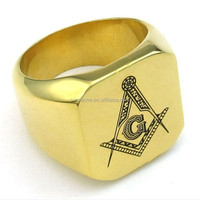 Wholesale Mens Gold Masonic Championship Rings