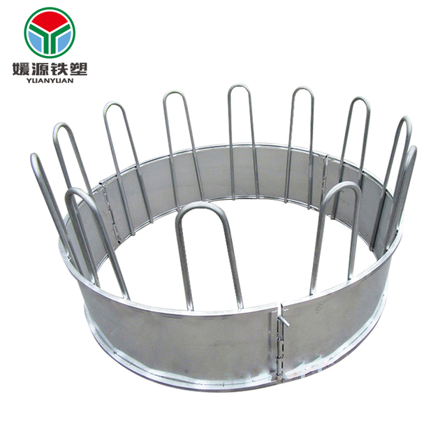 Cheap price horse goat round bale galvanized pasture steel hay rack livestock feeder