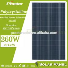 Prostar high efficiency best price ningbo solar panel 260w polycrystalline