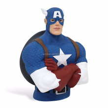 Marvel Comics Boys' Marvel Captain America resin figure/Bust Money Bank Resin One Size Blue