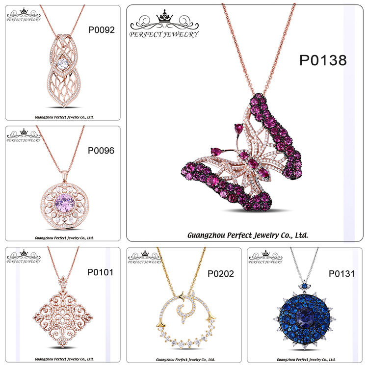 2017 New Arrival Fashion Style 925 Sterling Silver Charming Pendant With Clear Zircon Women Jewelry