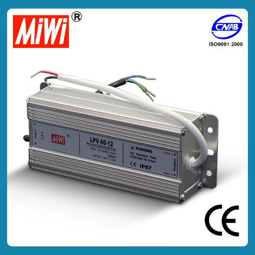 LPV-60-12 IP67 60W 12v waterproof power supply for led strip