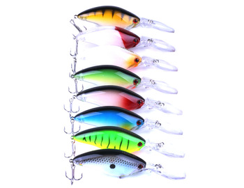 3D Eye Artificial Bait fishing lure Lures 6# Hook 10.5 cm 17.8 g crank Fishing Lure Hard Artificial Swim Baits 8colour