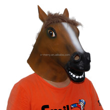 X-MERRY TOY Funny Horse Head Mask Halloween Costume Party Animal Cosplay Prop Novelty Latex x13005