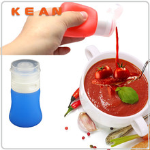 Mini Condiment Bottle/Wholesale Food Grade Silicone Travel Tube Dressing Go Leak-proof Squeeze Mini Condiment Bottle