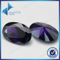 synthetic cubic zirconia egg shaped stones