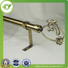 New product Home decor Curtain track/curtain design/flower end curtain rod