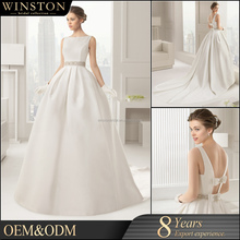 Professional China factory satin red and white wedding dresses