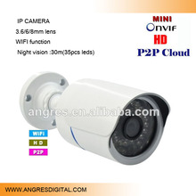 720P Megapixel HD Mini Bullet IR Free P2P Onvif CCTV Outdoor IP Security Camera