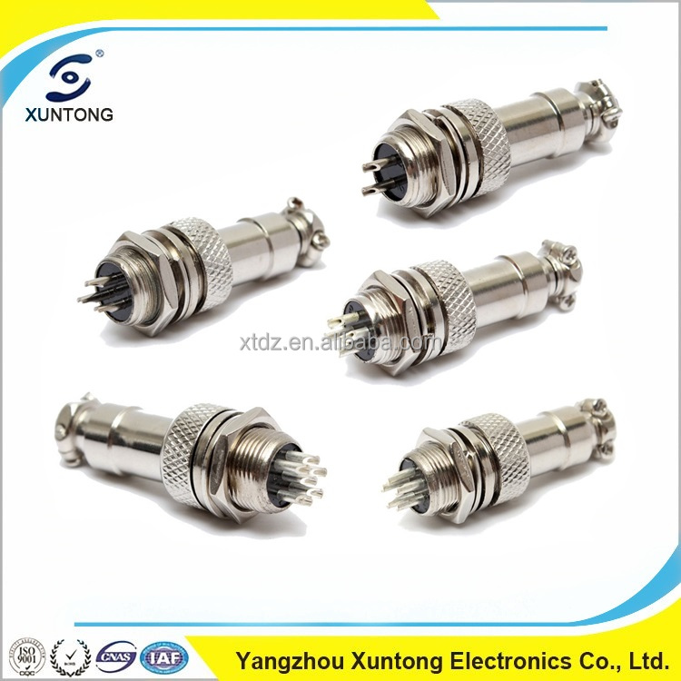 DIN cable GX12 connector aviation micro jack connector