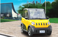 Bright colors four wheel driving two passengers electric car GPS