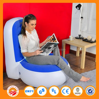 Top selling white/black/red color customized self inflating inflatable chair sofa
