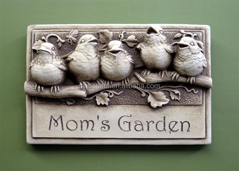 Stenen muur opknoping tuin vogel decoratie andere tuinornamenten en waterpartijen product id - Decoratie stenen tuin ...