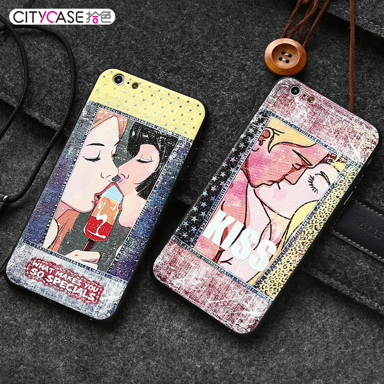 city&case JEAN STYLE Sexy Girl mobile phone case tpu pc for iPhone6 6plus