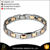 Fashion health jewelry bracelet 4 in 1 bio energy elements tungsten steel ceramic bangle bracelet
