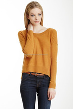 cheap price large collar pure cashmere knitted sweaters