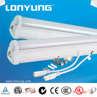 2015 New Design Aluminium Connection T8 LED tube light 9w 18w 25w
