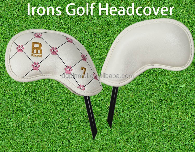 Wholesale high quality pu leather golf iron head cover set