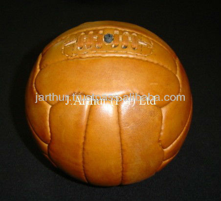 Leather Vintage Football/ Leather Soccer Ball / Retro Football