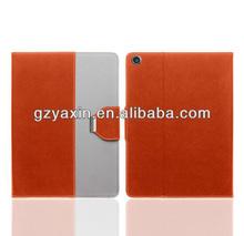 Colorful phone protection cover! beautiful 360 Degree Rotating PU Leather Case Cover for IPAD5