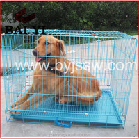 Double Doors Custom Large Dog Fence Cage With Removable Tray