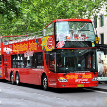3 Axles new tour sightseeing luxury open top double decker bus for sale