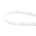 Hot Fashion 4-12mm White jade strand loose stone beads with factory wholesale by bracelet