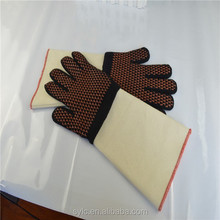100% Aramid Fiber cut resistance Glove with PVC dots on single side