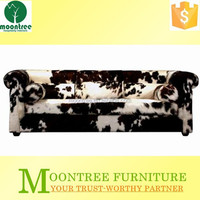 MSF-1114 Top Quality Black Horse Hair Sofa